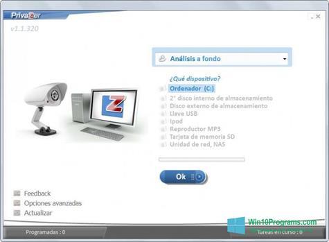 Скриншот программы PrivaZer для Windows 10