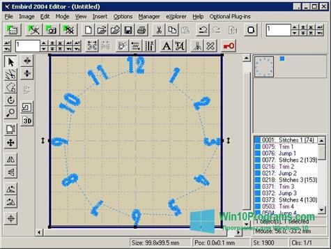 Скриншот программы Embird для Windows 10