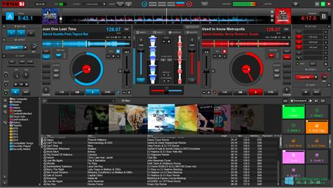 Скриншот программы Virtual DJ Pro для Windows 10