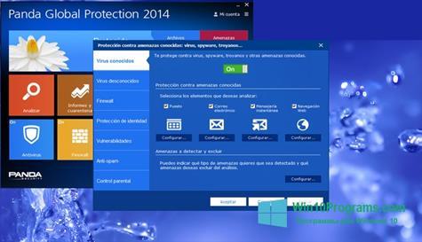 Скриншот программы panda global protection для Windows 10