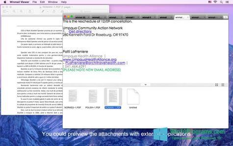 Скриншот программы Winmail Opener для Windows 10