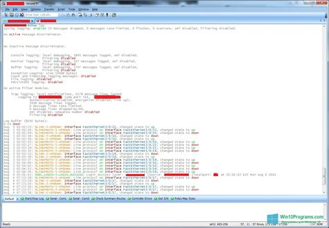Скриншот программы SecureCRT для Windows 10