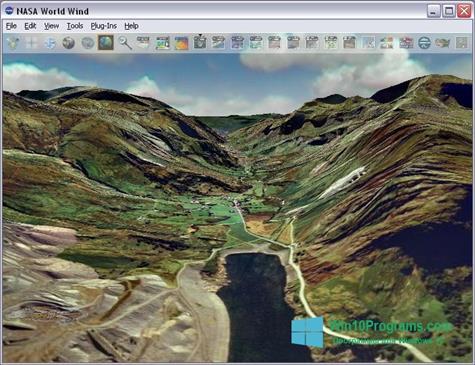 Скриншот программы NASA World Wind для Windows 10