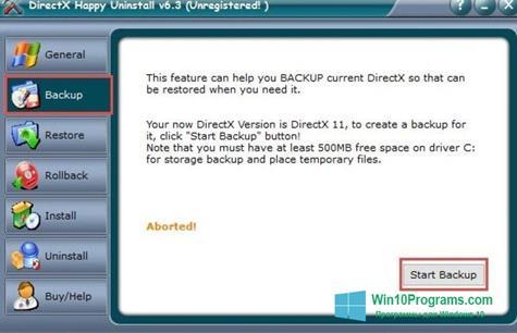 Скриншот программы DirectX Eradicator для Windows 10