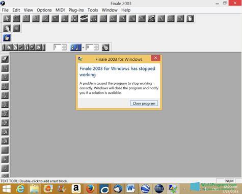 Скриншот программы Finale для Windows 10