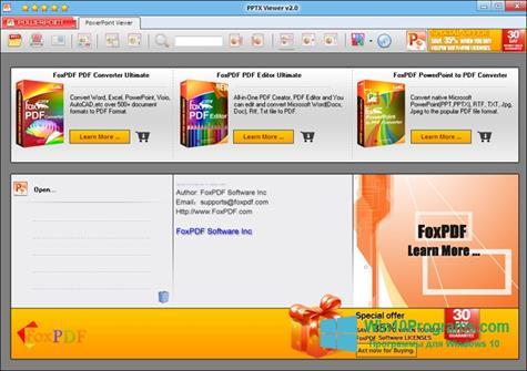 Скриншот программы PPTX Viewer для Windows 10