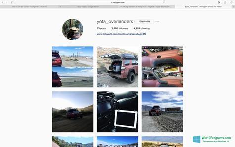 Скриншот программы Instagram для Windows 10