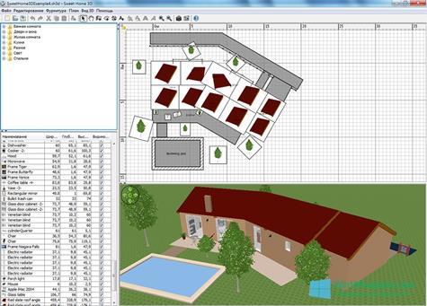 Скриншот программы Sweet Home 3D для Windows 10