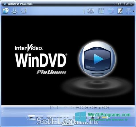 Скриншот программы WinDVD для Windows 10