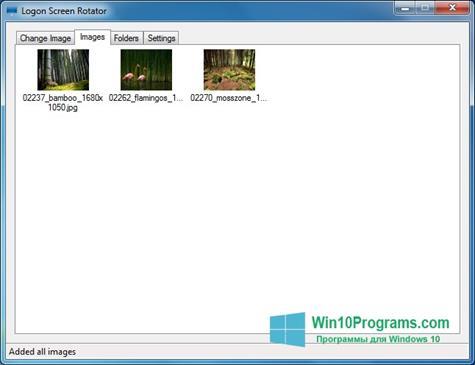 Скриншот программы Logon Screen для Windows 10
