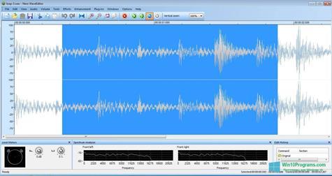 Скриншот программы Nero Wave Editor для Windows 10