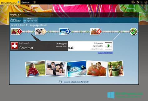 Скриншот программы Rosetta Stone для Windows 10