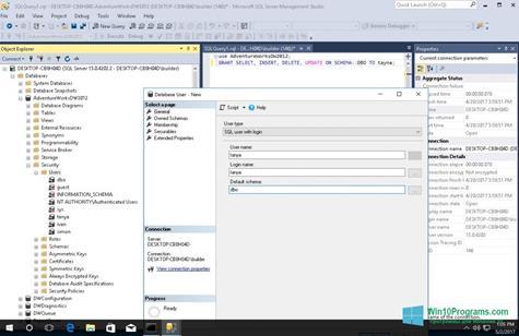 Скриншот программы Microsoft SQL Server для Windows 10