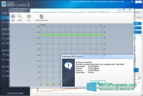 Скриншот программы Ashampoo HDD Control для Windows 10