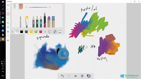 Скриншот программы Fresh Paint для Windows 10
