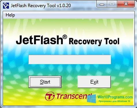 Скриншот программы JetFlash Recovery Tool для Windows 10